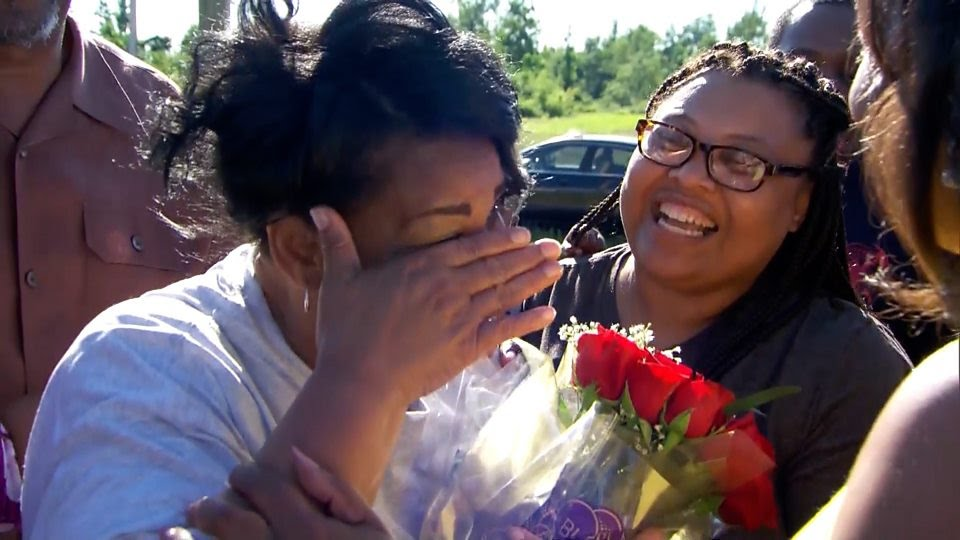 Emotional moment Alice Johnson was released