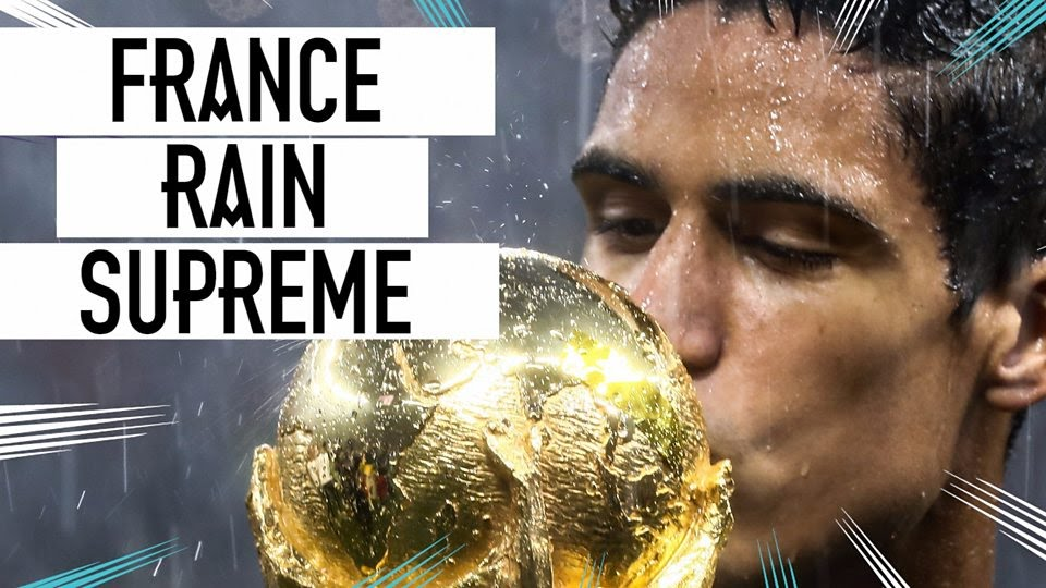 Soggy celebrations: Rain fails to dampen France's trophy lift