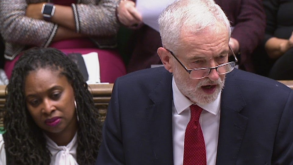 """Jeremy Corbyn calls on the PM to end the """"costly charade and rule out no-deal"""""""