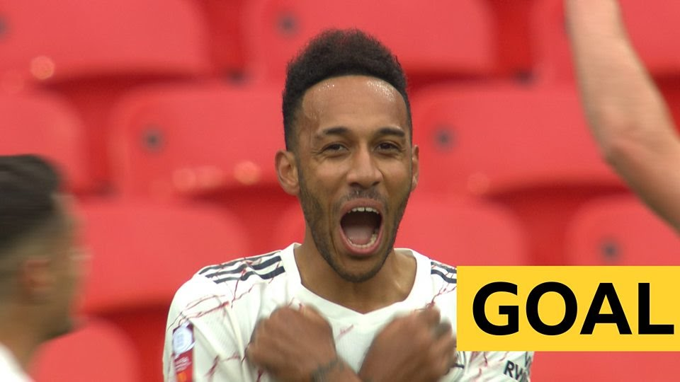 Aubameyang curls Arsenal into the lead in Community Shield