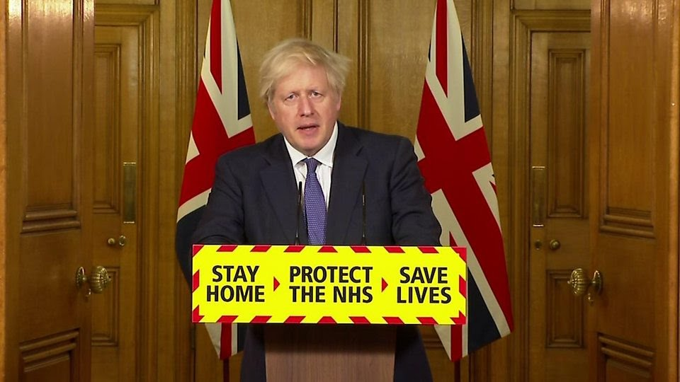 """Prime Minister Boris Johnson: """"We will temporarily close all travel corridors from 0400 on Monday"""""""
