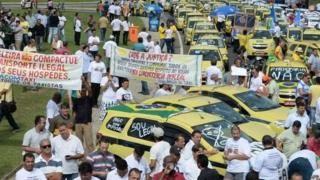 Protesto de motoristas de táxi