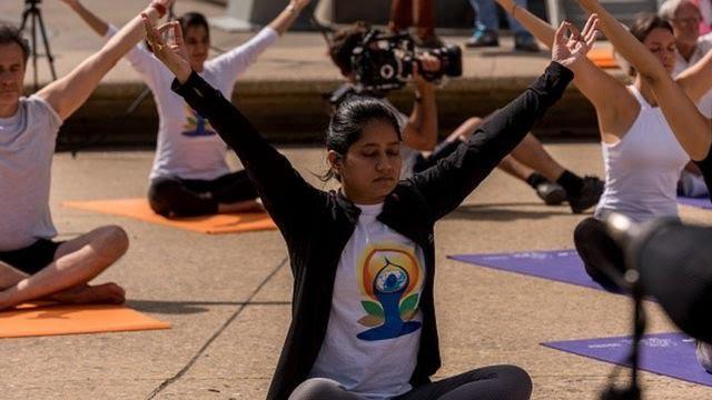 Praticantes de yoga