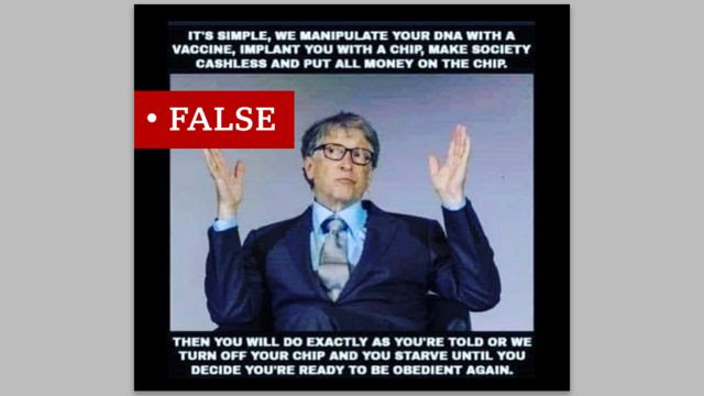 """Ibivugwa ko Bill Gates ategura gukoresha urukingo mu """"kugenzura"""" cyangwa """"guhindura"""" ADN y'umuntu byarakwiriye cyane ku mbuga nkoranyambaga"""