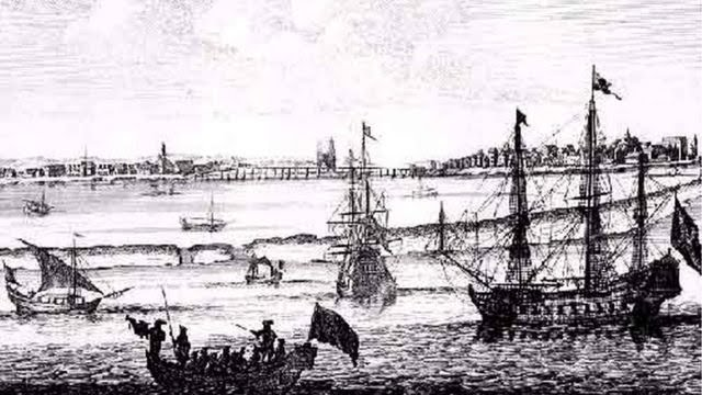 Vista de Mauritsstad (Recife) em 1645