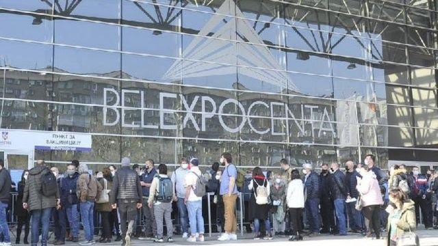 Gužva ispred Belekspo centra u Beogradu