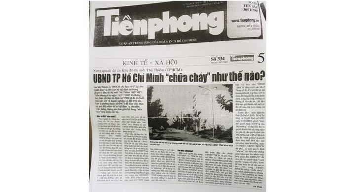 Bài báo điều tra năm 2007 của tờ Tiền Phong