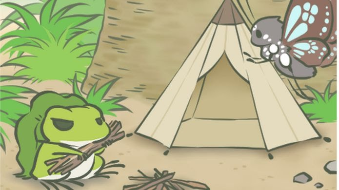 Many players have received photos of the frog camping with a butterfly