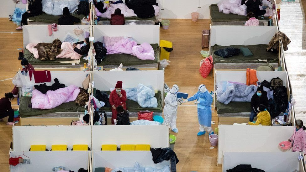 Inside a temporary hospital in Wuhan, China