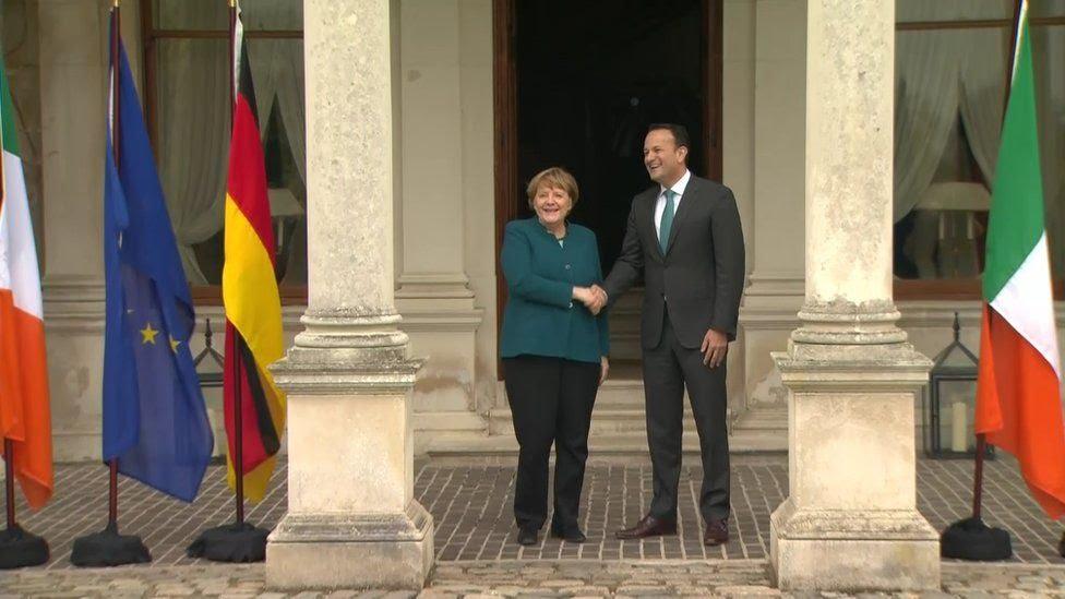 Angela Merkel and Leo Varadkar