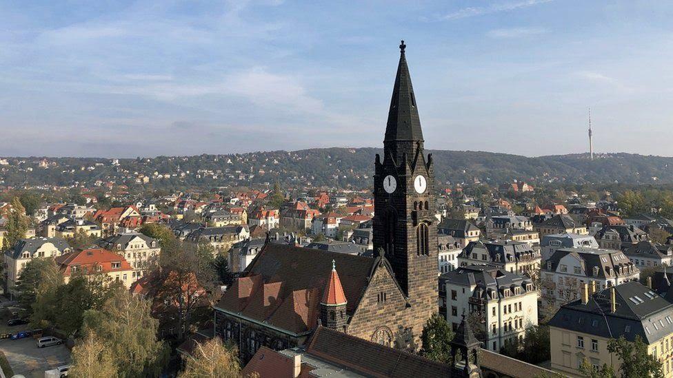 Panorámica de Dresde, Sajonia.