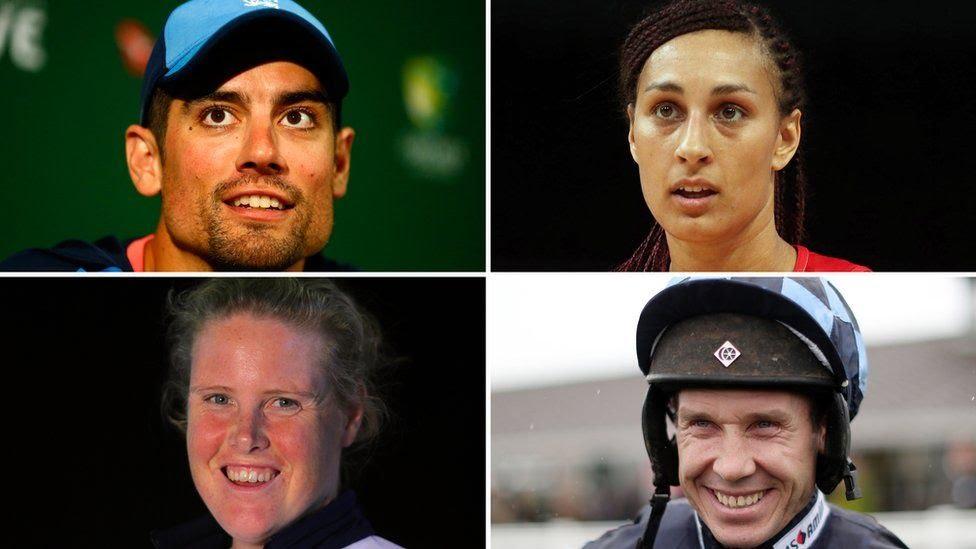 Clockwise from top left: Alastair Cook, Geva Mentor, Richard Johnson, Frances Houghton