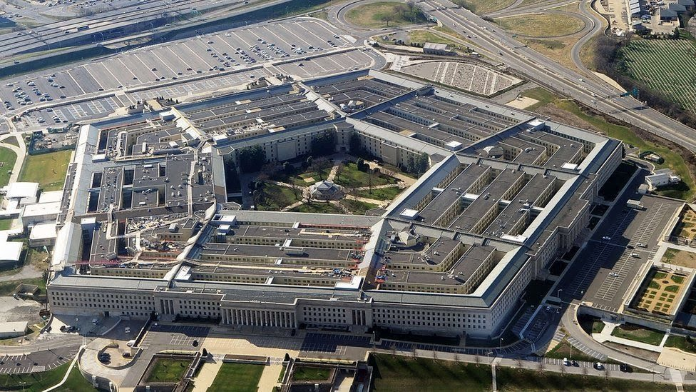 Vista aérea do Pentágono, Estados Unidos
