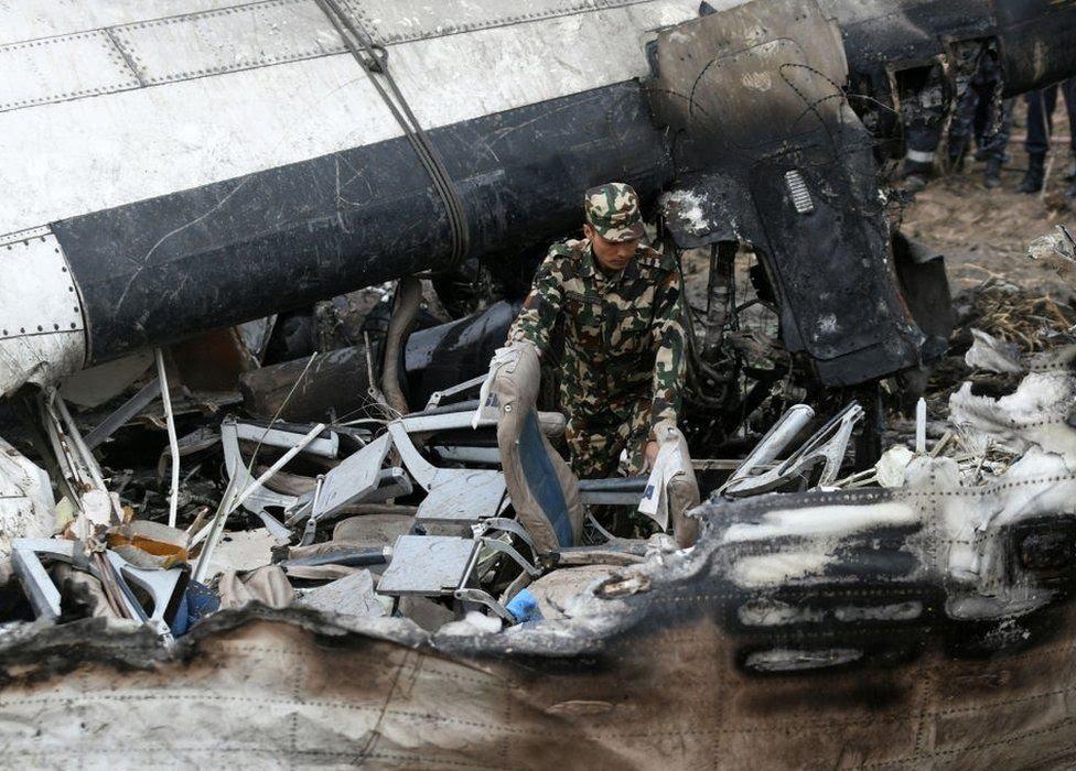 Crash site in Kathmandu