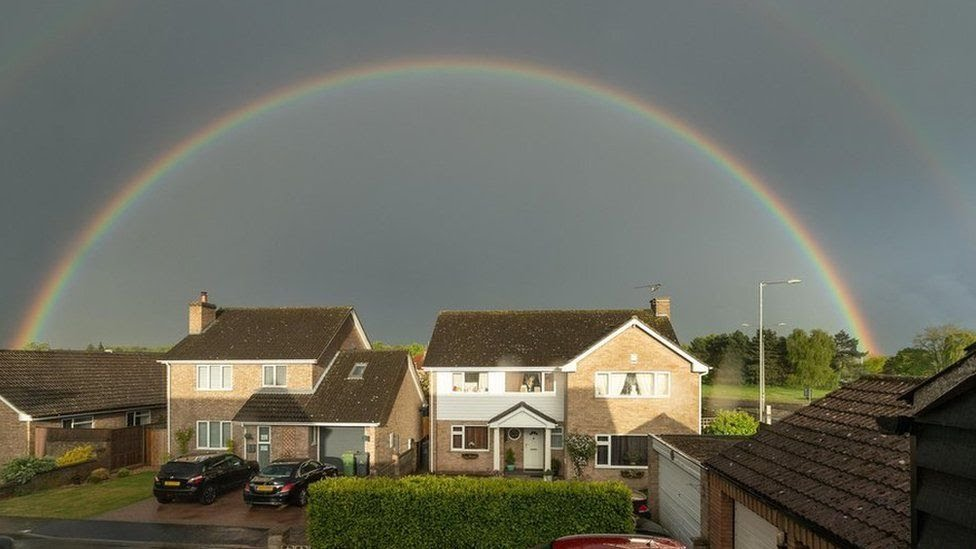 A double rainbow in Thetford. in Norfolk