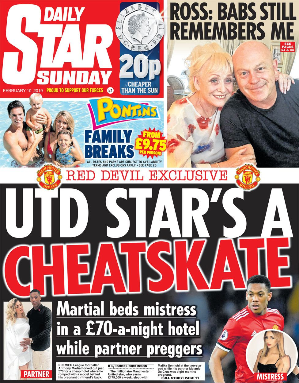 Daily Star on Sunday front page