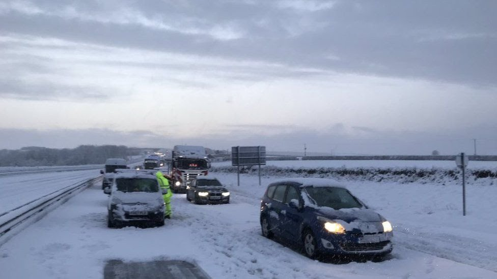 Drivers trapped on A30 in Cornwall