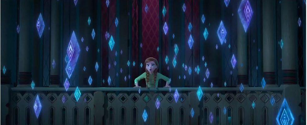A still from the Frozen 2 trailer