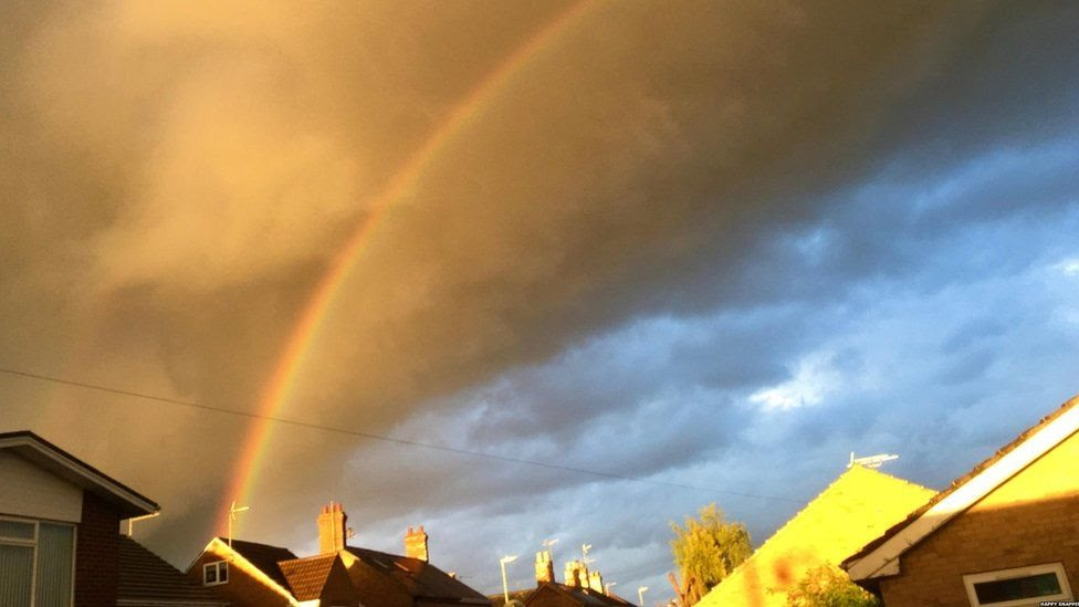 Rainbow over houses in Whittlesey
