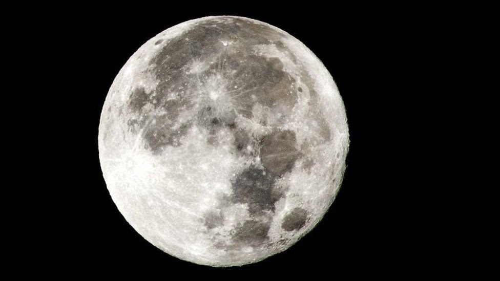Foto da lua cheia