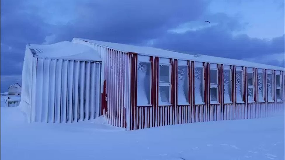 The burger and fries are currently kept in a hostel in southern Iceland