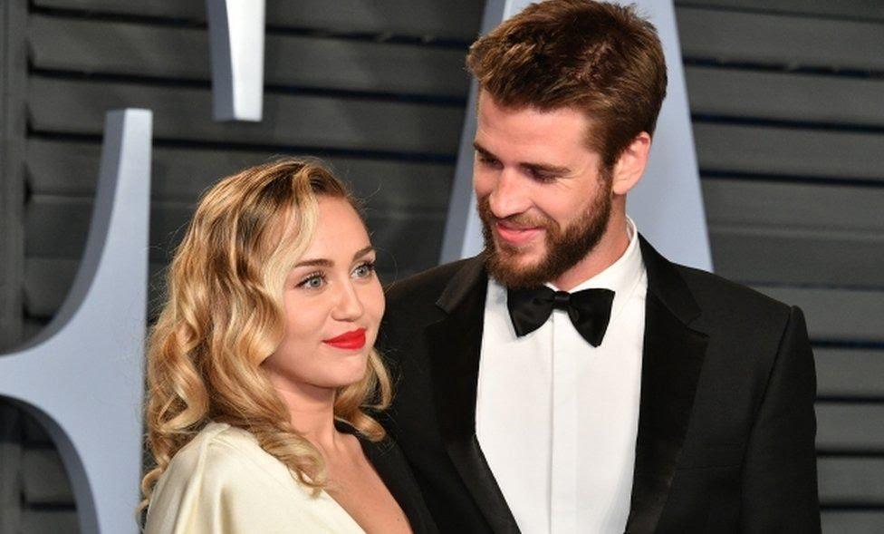 Singer Miley Cyrus and actor Liam Hemsworth