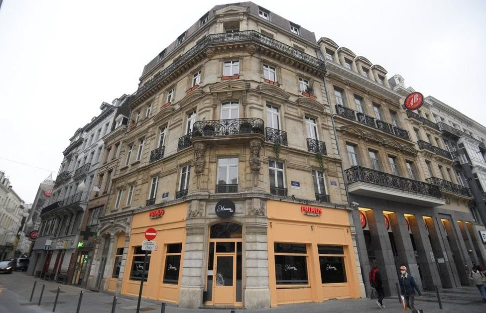 """A view of the """"Monroe Bar"""", where a conservative Hungarian MEP and close ally of Prime Minister was caught by Belgian police fleeing a lockdown-busting party on November 27, 2020. -"""